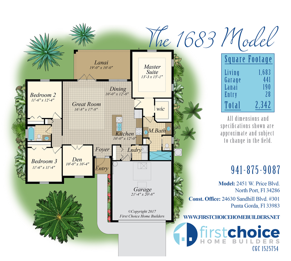 North Port Home Builder 1683 Model